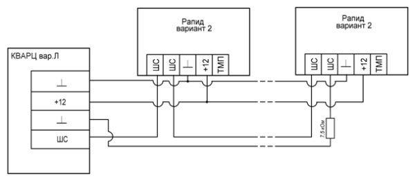 Схема подключения порта ТМ к