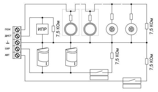 Схема подключений блоков